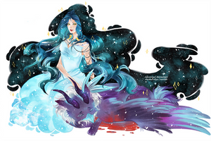 Commission: Azula and Catan by sakonma