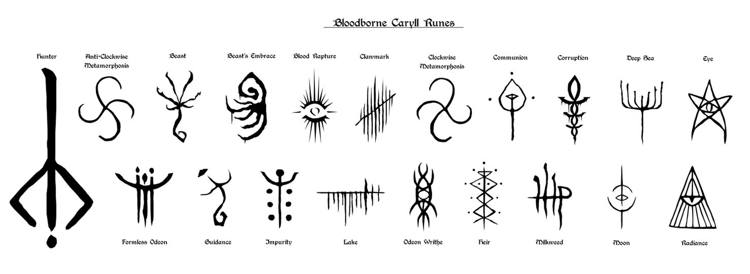 Bloodborne Caryll Rune Vectors By Lolly535 On Deviantart