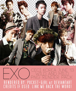 EXO's Ceci Korea June 2013 PNG Render Pack by pocket-girl