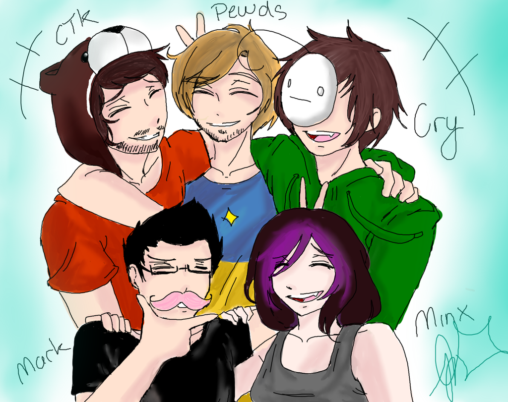 Youtubers by nekoyukinochan on deviantart