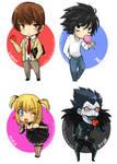 Death Note Chibis -set 1-