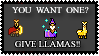 Give Llamas by The-Caligula