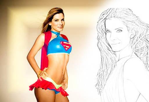 Sandra Bullock supergirl