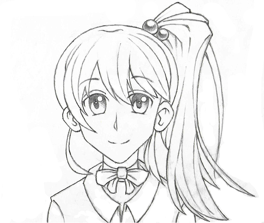 Sketch manga girl by Dany666