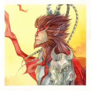 Monkey King - watercolor 3