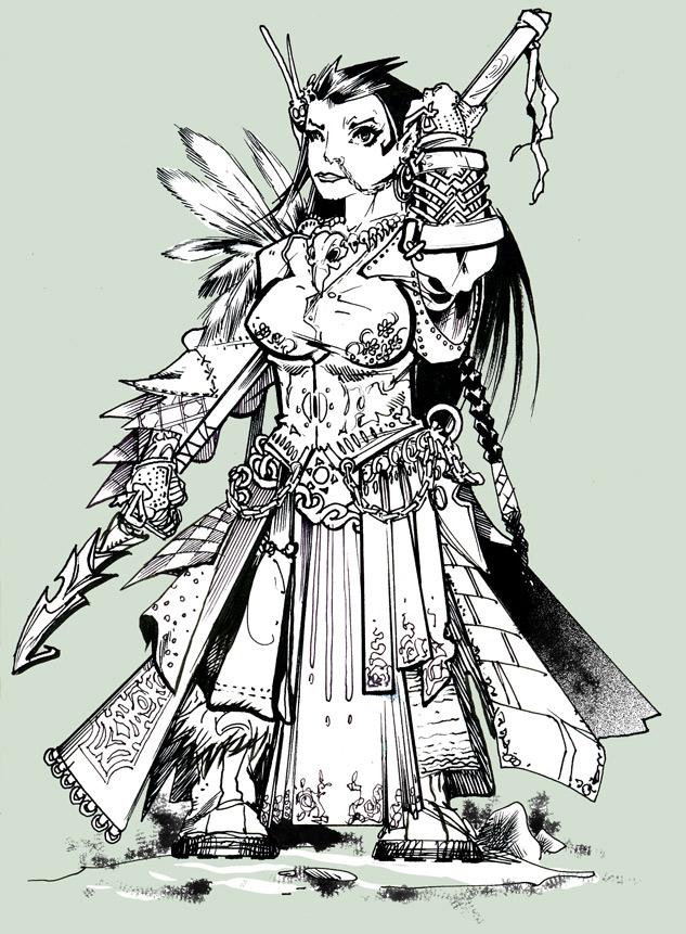 earthdawn dwarf woman by abraibarnabas