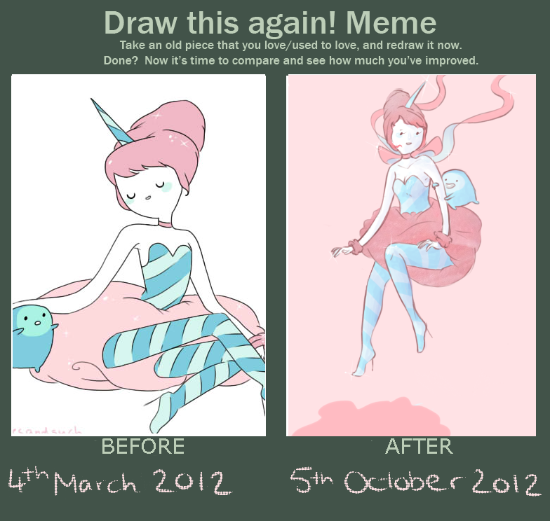 Draw this again! Cotton Candy Princess by alicejane98