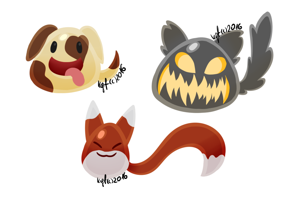 CA]Slime Rancher - Canine Slimes by KillerGirlFuria on