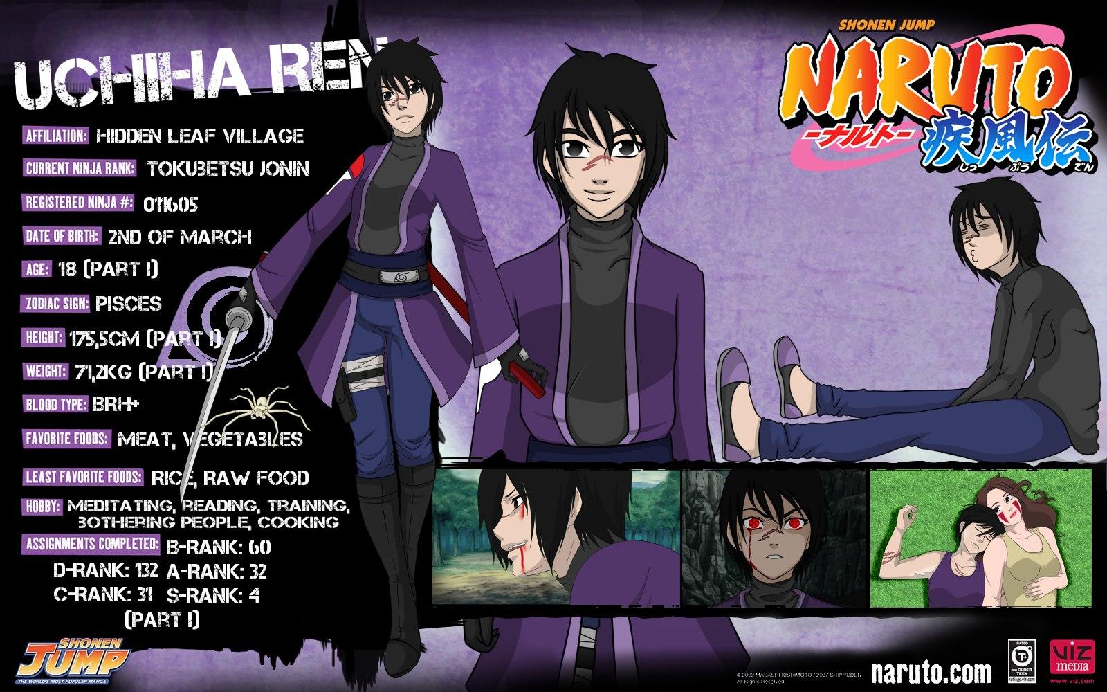 RaziKitsune 28 4 Uchiha Ren Profile By KillerGirlFuria