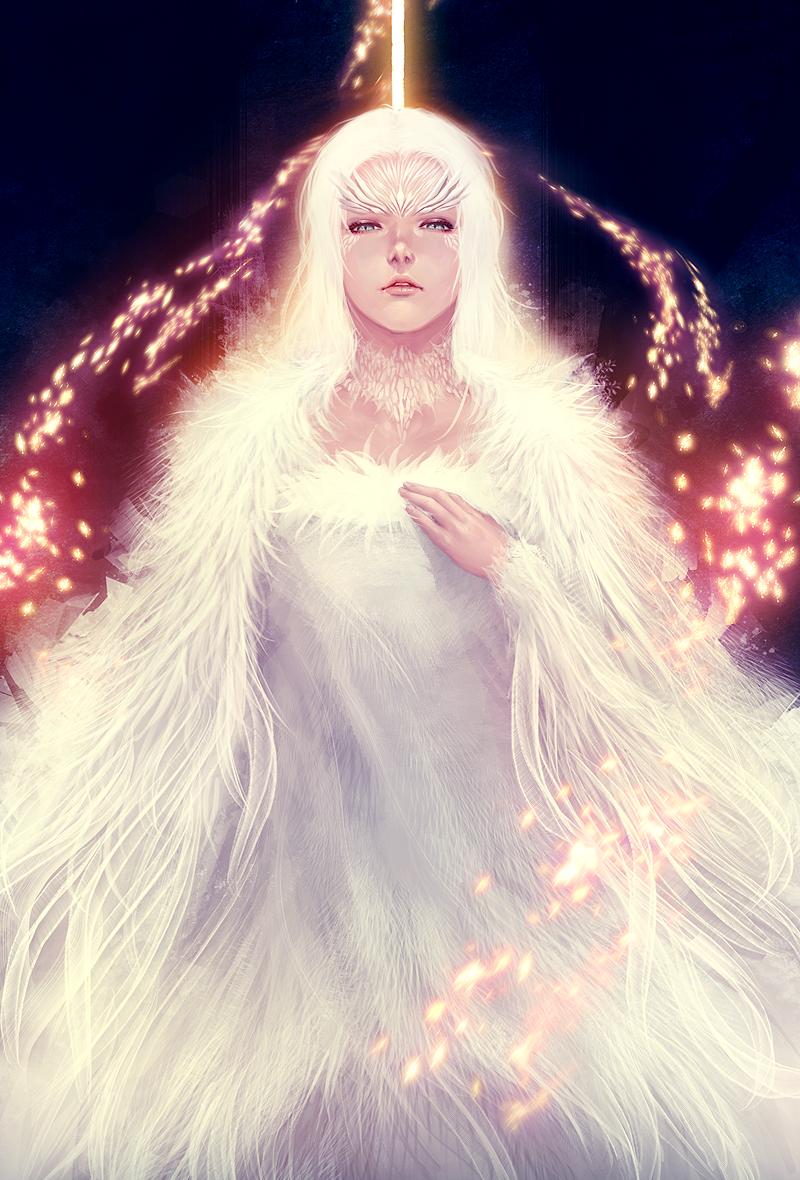 Dark Souls: Crossbreed Priscilla by ae-rie