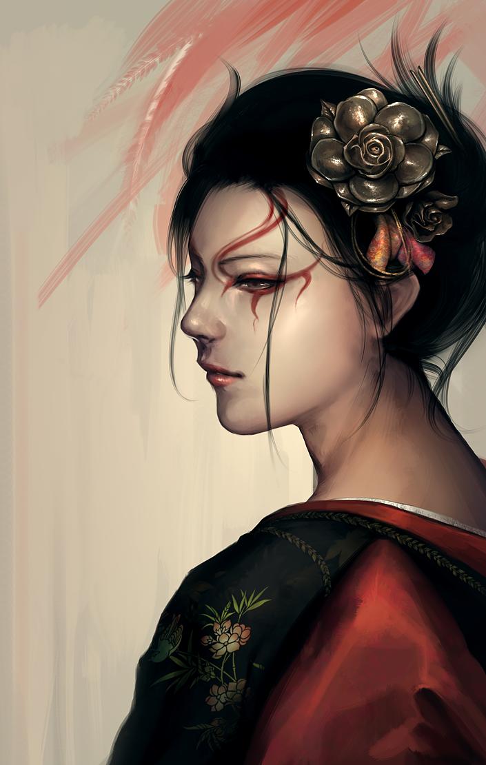 L5R: Kuni Sango by ae-rie