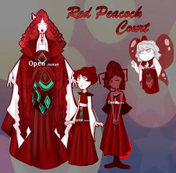 [OPEN] Red Peacock Court [Adopt] by JaskaS-Adopts