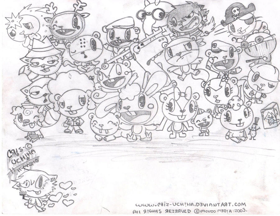 happy tree friends coloring pages - photo#30