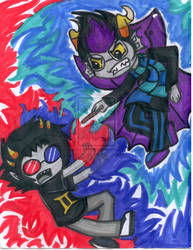 .:Sollux Vs Eridan:. by Lord-Hon