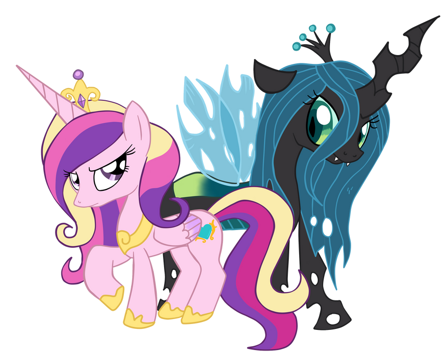 Princess Cadence and Queen Chrysalis   by Lord-HonQueen Chrysalis X Princess Cadence