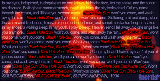 black holes for the young lyrics - photo #3