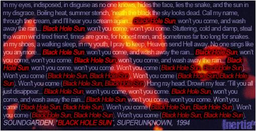 Black Hole Sun Lyrics by inertiafx on deviantART