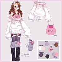 Persona - Ref Sheet by Miyurinee