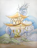 Pagoda by TwoHorizonsArt