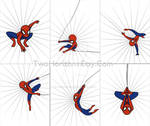 Spider-Man poses
