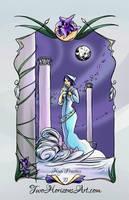 The High Priestess Tarot Card by TwoHorizonsArt