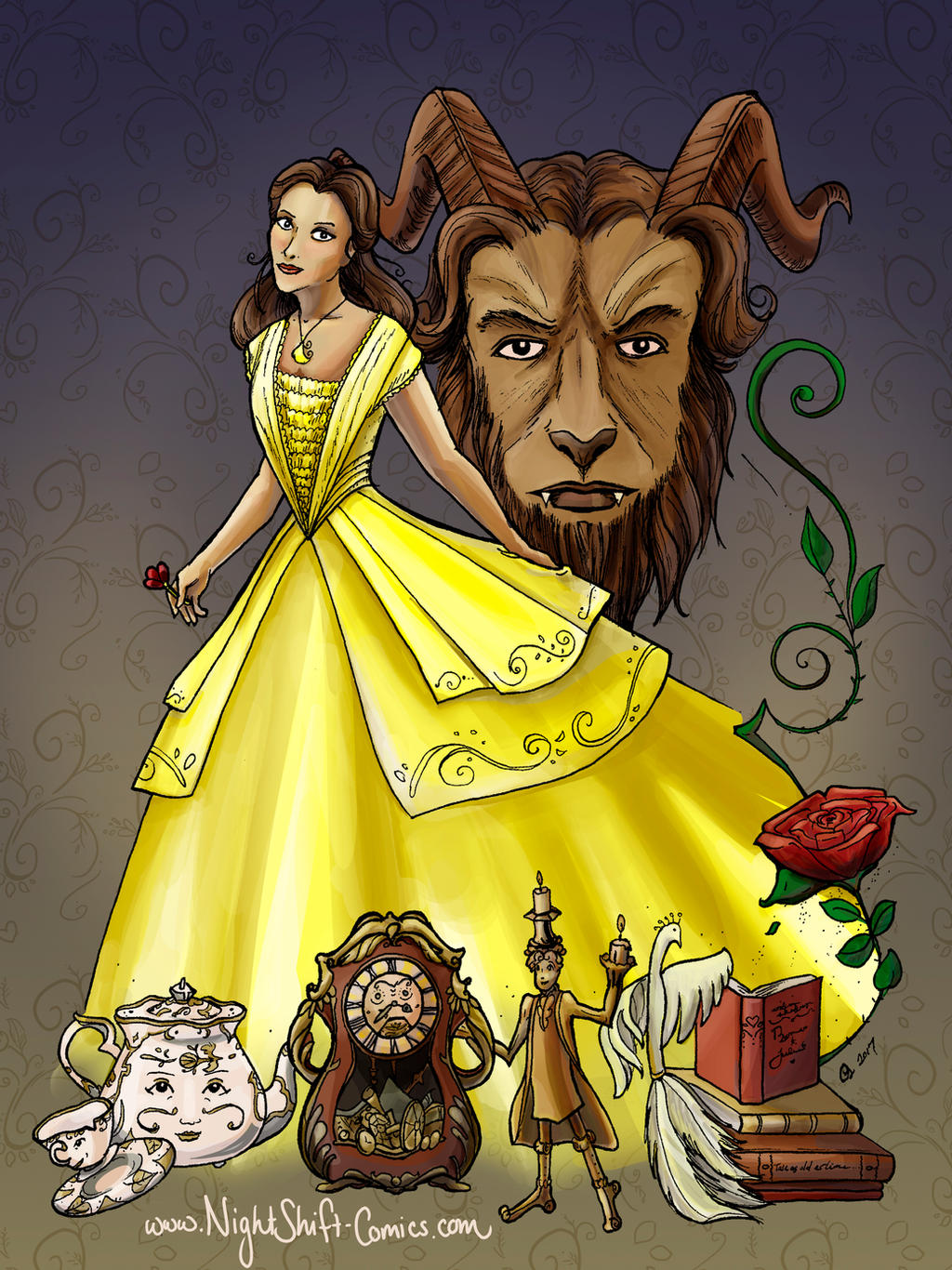 Beauty and the Beast by TwoHorizonsArt