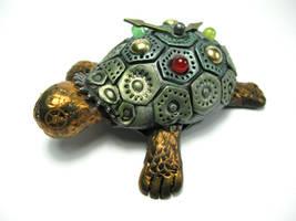Sheldon the Steampunk Tortoise by Devilish--Designs