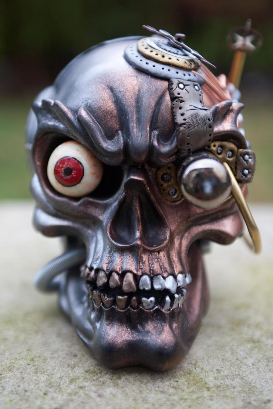 Steampunk Industrial Skull - Front by Devilish--Designs