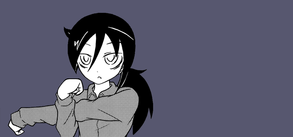 Tomoko stretching her arm by MagneticSp1der