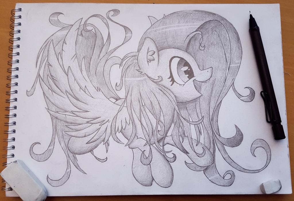 Fluttershy Sketch by SentireAeris
