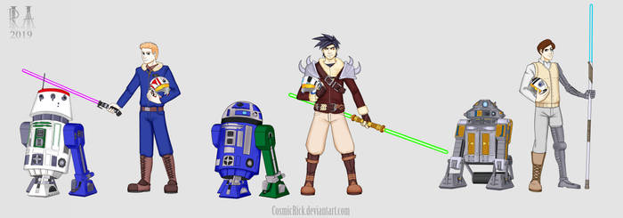 Jedi and Droid OCs Commission