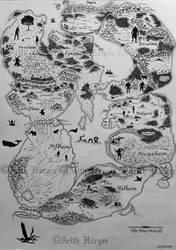 Map of the Nine Norse Worlds by VikingWidunder