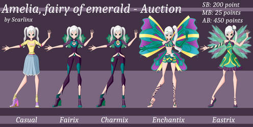 Winx Club Auction   Amelia fairy of Emerald [OPEN]