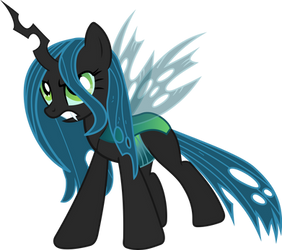Hybrid Changeling Pony OC Mystic Mist by Cursed-Grimdark