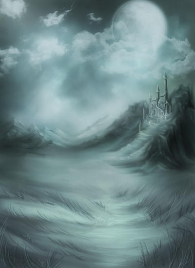 Blue Fantasy Background by flordelys-stock