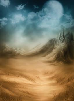 Duotone Fantasy Background