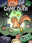 Furry squash - Game over screen