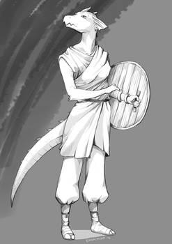 Lizard hero sketch