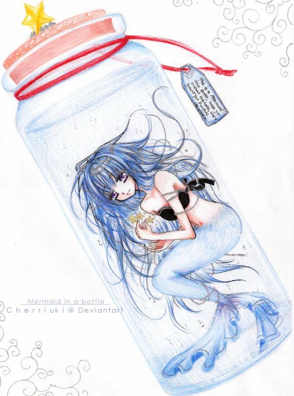 Mermaid in a Bottle by cherriuki