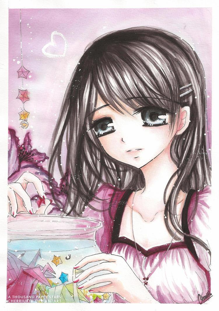 Chibi queen of heart nè!!! Thousand_Paper_Stars_by_cherriuki