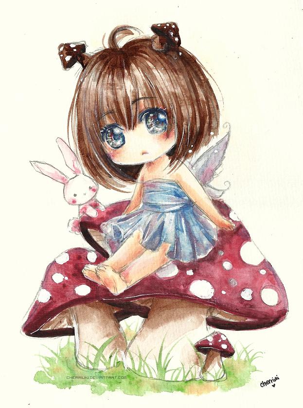 Mushrooms by cherriuki