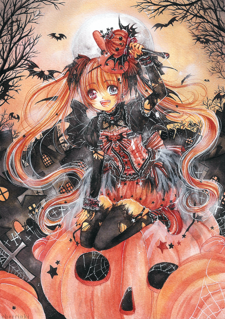 - Pumpkin Witch - by cherriuki