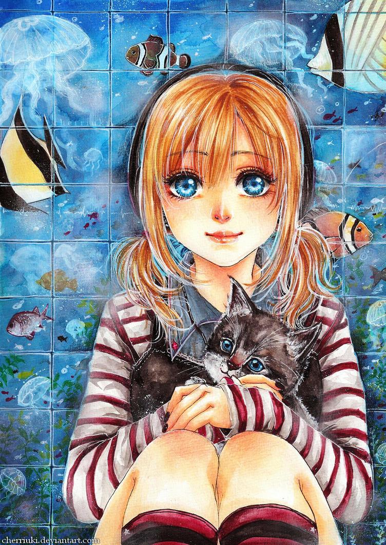 Aquatic Wall by cherriuki