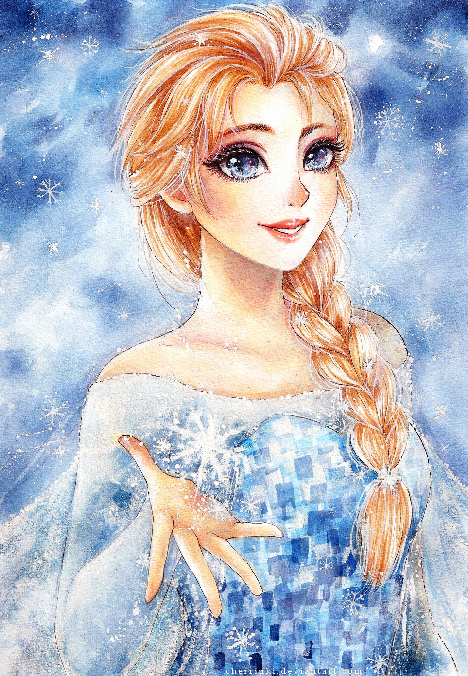 Snow Queen Elsa by cherriuki