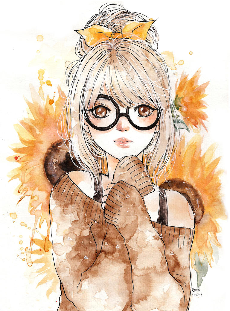 Sunflower girl by cherriuki