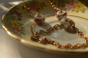 porcelain Flower bead Set