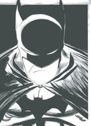 Batman Black and White by Donomark