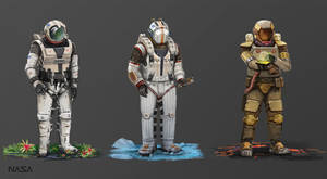 Astronaut  Suits by PrabhuDK