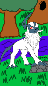 Umbra the Absol- Fully Colored Digitally by teamvalor