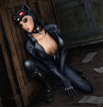 Selina beside the box (in color)